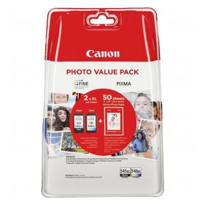 Canon tusz oryginalna PG-545 XL/CL-546 XL + 50x GP-501, black/color, 8286B006, Canon Pixma MG2450, 2555, MX495, Promo pack