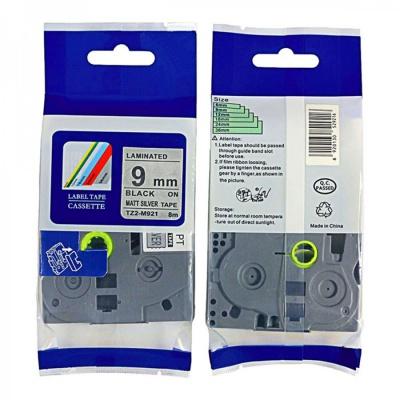 Taśma zamiennik Brother TZ-M921 / TZe-M921, 9mm x 8m, czarny druk / srebrny podkład