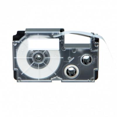 Taśma zamiennik Casio R7YW 12mm x 2,5m termokurczliwa, czarny druk / żółty podkład