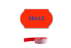 Cenové etykiety do kleští, 26mm x 12mm, 900 szt., signální czerwone