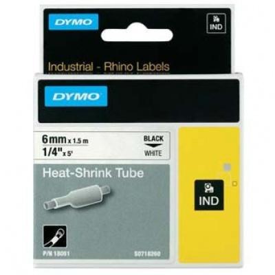 Dymo Rhino 18051, S0718260, 6mm x 1,5m czarny druk / biały podkład, taśma oryginalna