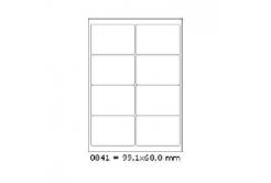 Samoprzylepne etykiety 99 x 68 mm, 8 etykiet, A4, 100 arkuszy