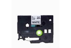 Brother TZe-V221, 9mm x 5,5m, czarny druk / biały podkład, vinyl, taśma zamiennik