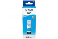 Epson tusz oryginalna C13T00S24A, 103, cyan, 65ml, Epson EcoTank L3151, L3150, L3111, L3110