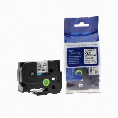 Taśma zamiennik Brother TZ-FX251 / TZe-FX251, 24mm x 8m, flexi, czarny druk / biały podkład