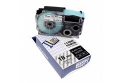 Taśma zamiennik Casio XR-18X1, 18mm x 8m czarny druk / przezroczysty podkład