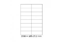 Samoprzylepne etykiety 105 x 37 mm, 16 etykiet, A4, 100 arkuszy