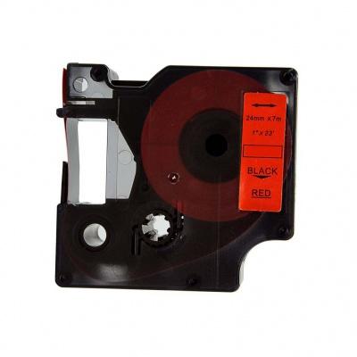 Taśma zamiennik Dymo 53717, S0720970, 24mm x 7m, czarny druk / czerwony podkład