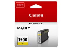 Canon tusz oryginalna PGI-1500 Y, yellow, 300 stron, 4.5ml, 9231B001, Canon MAXIFY MB2050,MB2150,MB2155,MB2350,MB2750,MB2755