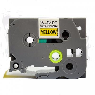 Taśma zamiennik Brother TZ-FX661 / TZe-FX661 36mm x 8m, flexi, czarny druk / żółty podkład