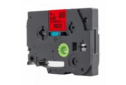 Taśma zamiennik Brother TZ-FX421 / TZe-FX421, 9mm x 8m, flexi, czarny druk / czerwony podkład