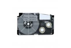 Casio XR-6SR1 6mm x 8m czarny druk / srebrny podkład, taśma zamiennik