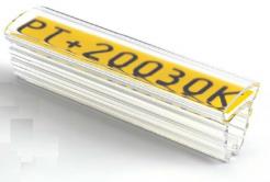 Partex PT+10018A tuleja 18 mm, 200 szt., (2,5 5,0 mm), PT transparentny oznacznik z kieszenią