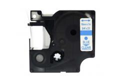 Taśma zamiennik Dymo 45801, 19mm x 7m, niebieski druk / przezroczysty podkład