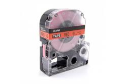 Epson LK-SC6RW, 6mm x 9m, czarny druk / czerwony podkład, taśma zamiennik