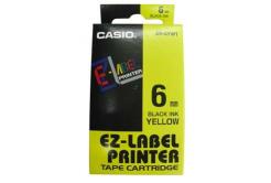 Casio XR-6YW1, 6mm x 8m, czarny druk / żółty podkład, taśma oryginalna