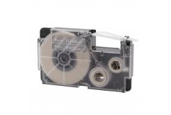Casio XR-9AX, 9mm x 8m czarny druk / przezroczysty podkład, taśma zamiennik