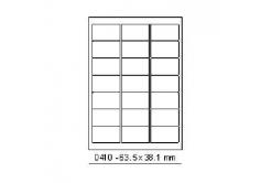 Samoprzylepne etykiety 63,5 x 38,1 mm, 21 etykiet, A4, 100 arkuszy