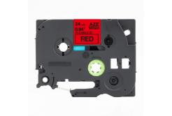 Taśma zamiennik Brother TZ-FX451 / TZe-FX451, 24mm x 8m, flexi, czarny druk / czerwony podkład