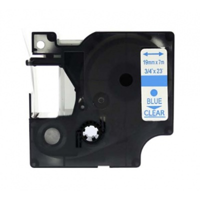 Taśma zamiennik Dymo 53714, 24mm x 7m, niebieski druk / biały podkład