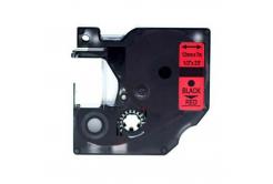 Taśma zamiennik Dymo 45017, S0720570, 12mm x 7m czarny druk / czerwony podkład
