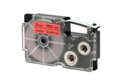 Casio XR-9RD1, 9mm x 8m, czarny druk / czerwony podkład, taśma oryginalna