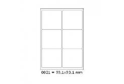 Samoprzylepne etykiety 99,1 x 93,1 mm, 6 etykiet, A4, 100 arkuszy