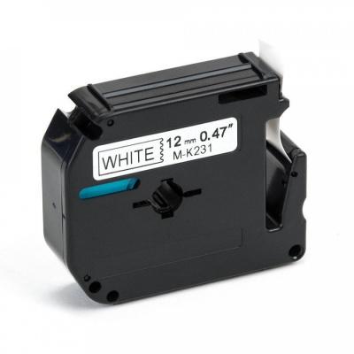 Taśma zamiennik Brother MK-231, 12mm x 8m, czarny druk / biały podkład