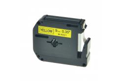 Taśma zamiennik Brother MK-621, 9mm x 8m, czarny druk / żółty podkład