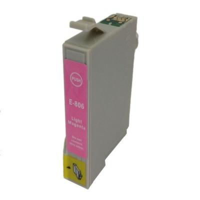 Epson T0806 jasno purpurowy (light magenta) tusz zamiennik