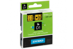 Dymo D1 40918, S0720730, 9 mm x 7 m, czarny druk / żółty podkład, taśma oryginalna