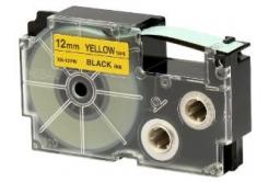 Casio XR-12YW1, 12mm x 8m, czarny druk / żółty podkład, taśma oryginalna