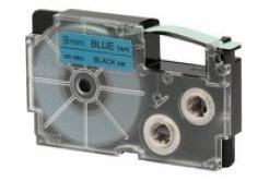 Casio XR-9BU1, 9mm x 8m, czarny druk / niebieski podkład, taśma oryginalna