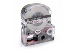 Epson LC-ST6RW, 6mm x 8m, czerwony druk / przezroczysty podkład, taśma zamiennik