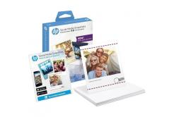 HP W2G60A Social Media Snapshots, biały błyszczący papier fotograficzny, 265 g/m2, 10x13cm, 25 szt.