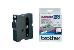 Brother TX-241, 18mm x 15m, czarny druk / biały podkład, taśma oryginalna