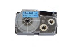 Taśma zamiennik Casio XR-18BU1, 18mm x 8m czarny druk / niebieski podkład