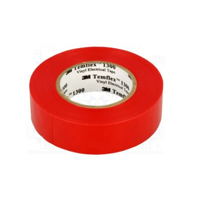 3M Temflex 1300 Taśma elektroizolacyjna , 15 mm x 10 m, czerwony