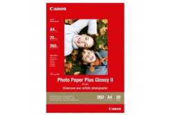 Canon Photo Paper Plus Glossy, papier fotograficzny, błyszczący, biały, A4, 260,275 g/m2, 20  szt., PP-201 A4, druk atramentowy