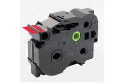 Taśma zamiennik Brother TZ-FX461 / TZe-FX461, 36mm x 8m, flexi, czarny druk / czerwony podkład