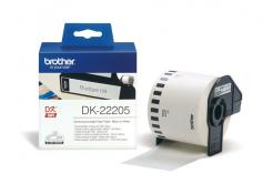 Brother DK-22205, 62mm x 30,48m, etykiety papierowe oryginalne