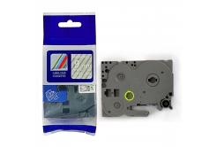 Taśma zamiennik Brother TZ-125 / TZe-125, 9mm x 8m, biały druk / przezroczysty podkład
