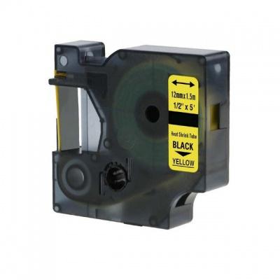 Taśma zamiennik Dymo 18056, S0718310, 12mm x 1, 5m czarny druk / żółty podkład