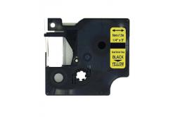 Taśma zamiennik Dymo 18052, S0718270, 6mm x 1, 5m czarny druk / żółty podkład