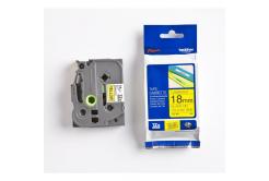 Brother TZ-FX641 / TZe-FX641, 18mm x 8m, czarny druk / żółty podkład, taśma oryginalna