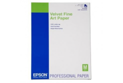 Epson S042096 Velvet Fine Art Paper, aksamit, biały, A2, 260 g/m2, 25 szt.