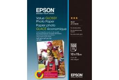 Epson S400039 Value Glossy Photo Paper, błyszczący, biały, papier fotograficzny, 10x15cm, 183 g/m2, 100 szt.