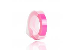 Dymo Omega, 9mm x 3m, biały tisk / fluorescencyjny różowy podkład, taśma zamiennik