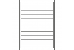 Samoprzylepne etykiety 48,5 x 25,4 mm, 44 etykiet, A4, 100 arkuszy