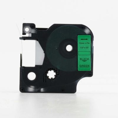 Taśma zamiennik Dymo 45019, S0720590, 12mm x 7m czarny druk / zielony podkład